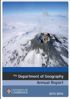 Department of Geography Annual Report 2015-16