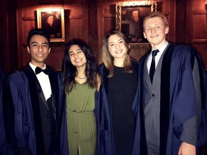 Jay Shah (left), Esha Marwaha (second from left), Stephen Parkinson (right)