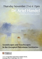 Research Seminar 21st November: Dr. Ariel Handel