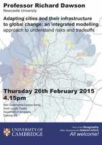 Departmental Seminar with Prof. Richard Dawson (Newcastle University) on Thurs Feb. 26th