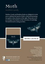 Book Launch: Professor Matthew Gandy 'Moth'