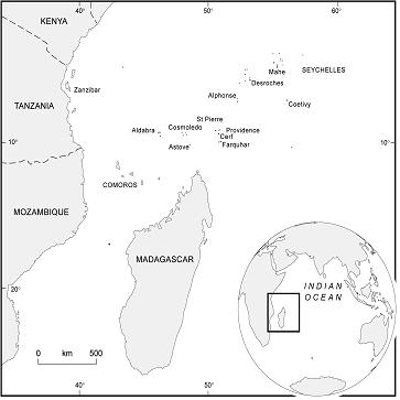 Department Of Geography Cambridge Mapping Coral Reef Habitats - Indian ocean seychelles map