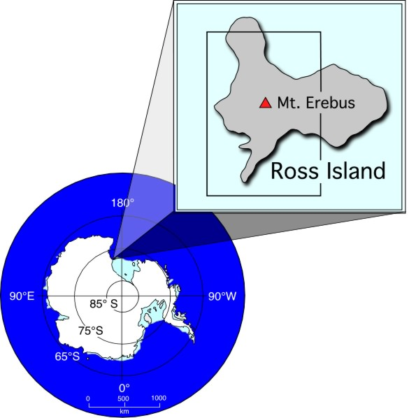 Location of Mt. Erebus