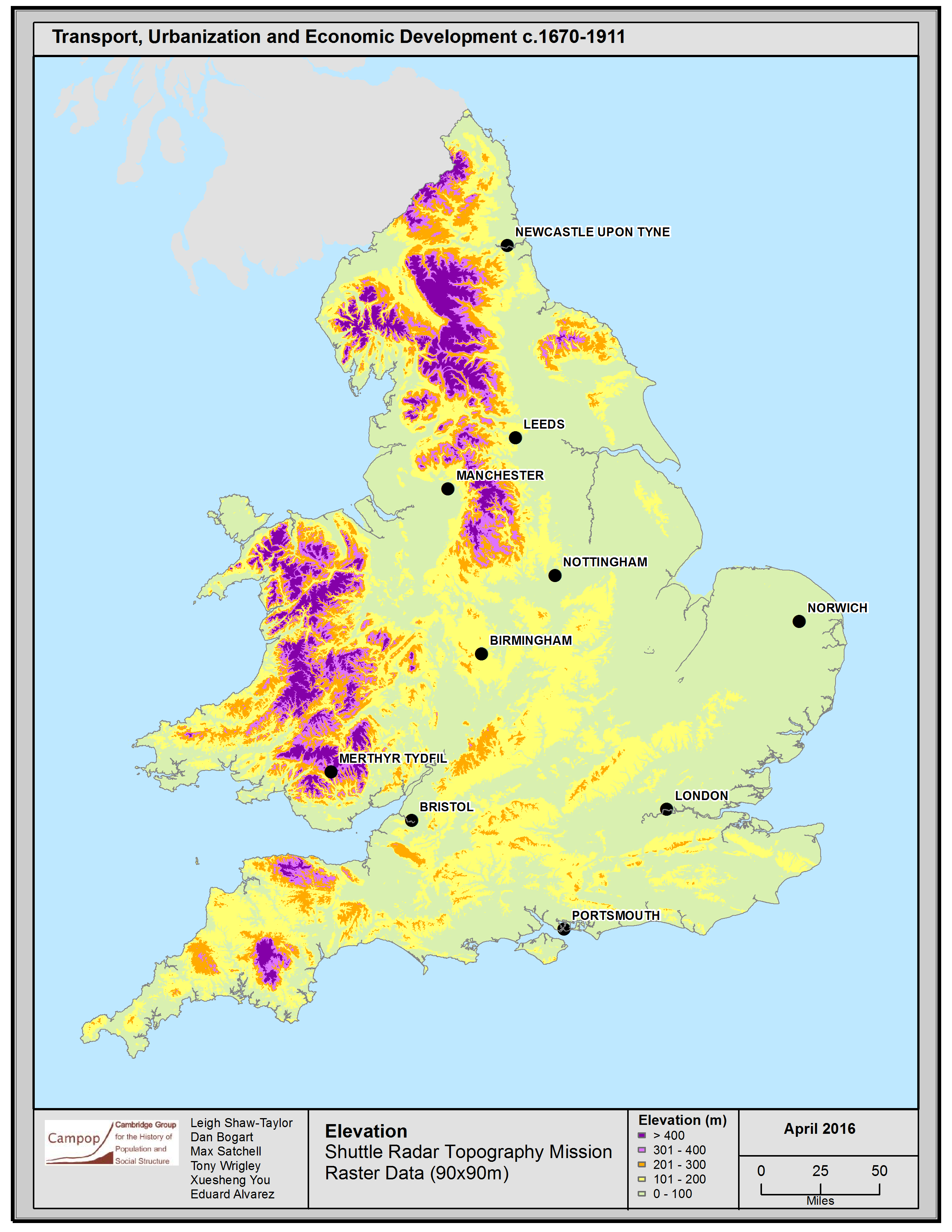 Geography Map Of England.Department Of Geography Cambridge Research Projects
